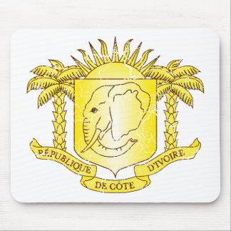 Escudo de armas de Costa de Marfil Tapetes De Ratón