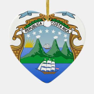 Escudo de armas de Costa Rica Ornamento De Navidad