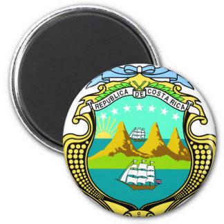 Escudo de armas de Costa Rica Imán Redondo 5 Cm