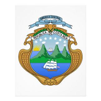 Escudo de armas de Costa Rica Membretes Personalizados