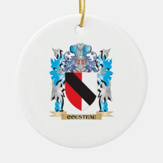 Escudo de armas de Cousteau - escudo de la familia Ornamentos Para Reyes Magos