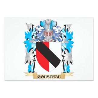 Escudo de armas de Cousteau - escudo de la familia Comunicado