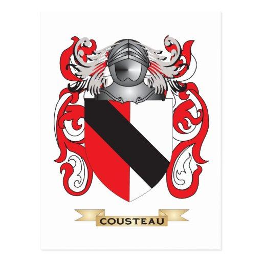 Escudo de armas de Cousteau Postales