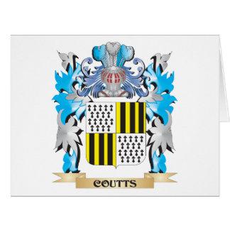Escudo de armas de Coutts - escudo de la familia Tarjeta De Felicitación Grande