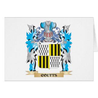 Escudo de armas de Coutts - escudo de la familia Tarjeta Pequeña