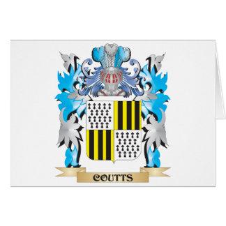 Escudo de armas de Coutts - escudo de la familia Tarjeta De Felicitación