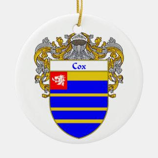 Escudo de armas de $cox (cubierto) adorno redondo de cerámica
