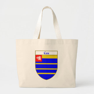 Escudo de armas de $cox/escudo de la familia bolsa tela grande