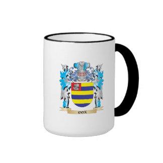 Escudo de armas de $cox - escudo de la familia taza a dos colores