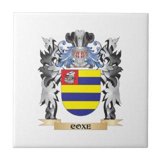 Escudo de armas de Coxe - escudo de la familia Azulejo Cuadrado Pequeño