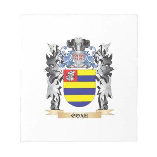 Escudo de armas de Coxe - escudo de la familia Libreta Para Notas