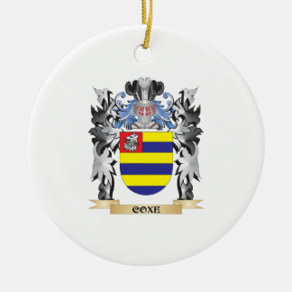 Escudo de armas de Coxe - escudo de la familia Adorno Redondo De Cerámica