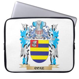 Escudo de armas de Coxe - escudo de la familia Fundas Portátiles