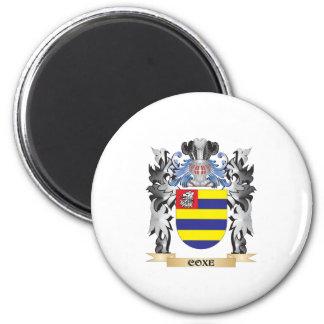 Escudo de armas de Coxe - escudo de la familia Imán Redondo 5 Cm