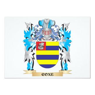 Escudo de armas de Coxe - escudo de la familia