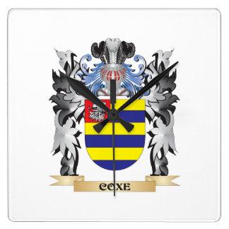 Escudo de armas de Coxe - escudo de la familia Reloj Cuadrado