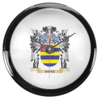 Escudo de armas de Coxe - escudo de la familia Relojes Acuario