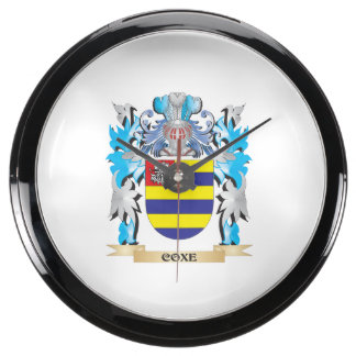 Escudo de armas de Coxe - escudo de la familia Reloj Aqua Clock