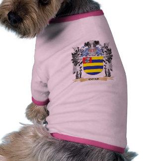 Escudo de armas de Coxe - escudo de la familia Camiseta Con Mangas Para Perro