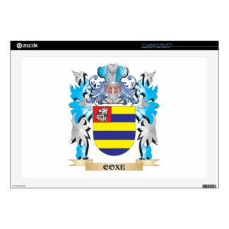 Escudo de armas de Coxe - escudo de la familia Calcomanía Para Portátil