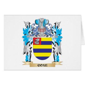 Escudo de armas de Coxe - escudo de la familia Tarjeta Pequeña