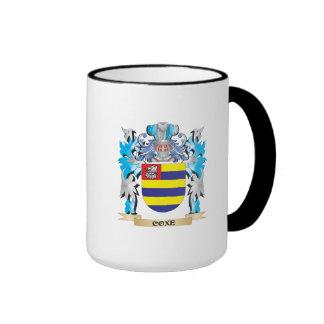 Escudo de armas de Coxe - escudo de la familia Taza A Dos Colores