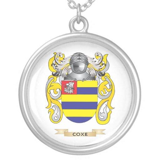 Escudo de armas de Coxe Pendientes Personalizados