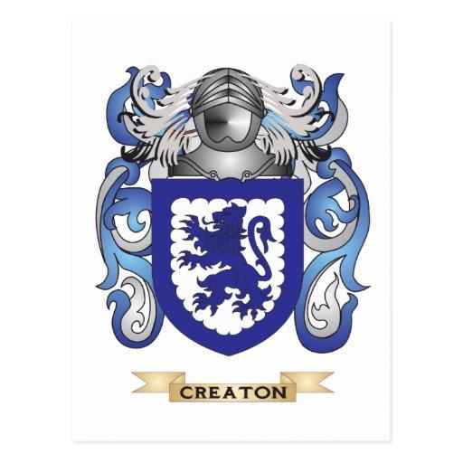 Escudo de armas de Creaton Postales