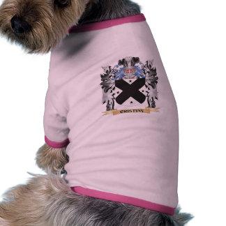 Escudo de armas de Cristian - escudo de la familia Camiseta Con Mangas Para Perro