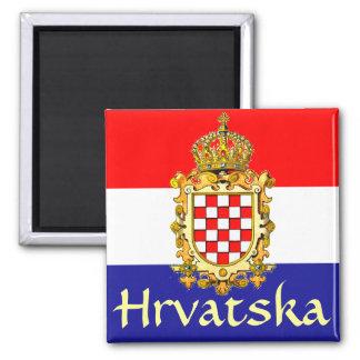 Escudo de armas de Croacia Imán Cuadrado