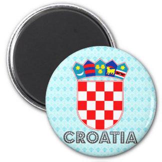 Escudo de armas de Croacia Imán Redondo 5 Cm