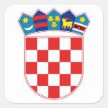 Escudo de armas de Croacia Pegatina Cuadradas Personalizada
