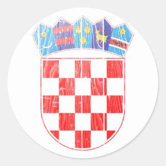 Escudo de armas de Croacia Pegatina Redonda