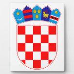 Escudo de armas de Croacia Placas Para Mostrar