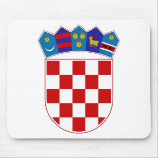 Escudo de armas de Croacia Alfombrilla De Ratón