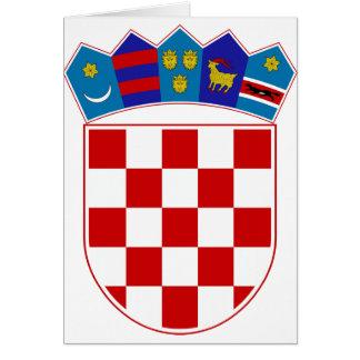 Escudo de armas de Croacia Tarjeta De Felicitación