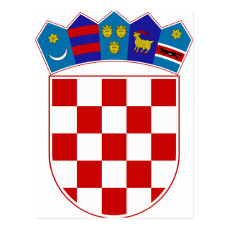 Escudo de armas de Croacia Tarjeta Postal