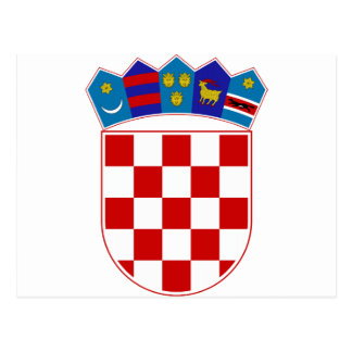 Escudo de armas de Croacia Tarjetas Postales