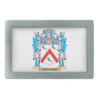 Escudo de armas de Crocker - escudo de la familia Hebilla De Cinturon Rectangular