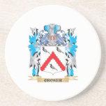 Escudo de armas de Croker - escudo de la familia Posavasos Cerveza