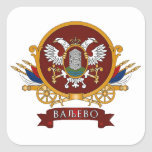 Escudo de armas de CUATRO Valjevo Pegatina Cuadrada