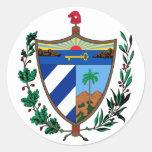 escudo de armas de Cuba Etiqueta Redonda