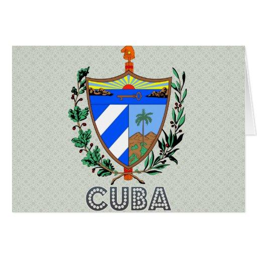 Escudo de armas de Cuba Felicitación