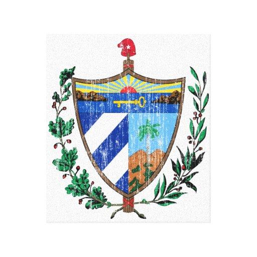Escudo de armas de Cuba Impresión En Lona Estirada