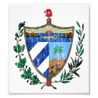 Escudo de armas de Cuba Impresion Fotografica