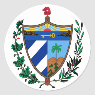 escudo de armas de Cuba Pegatina Redonda