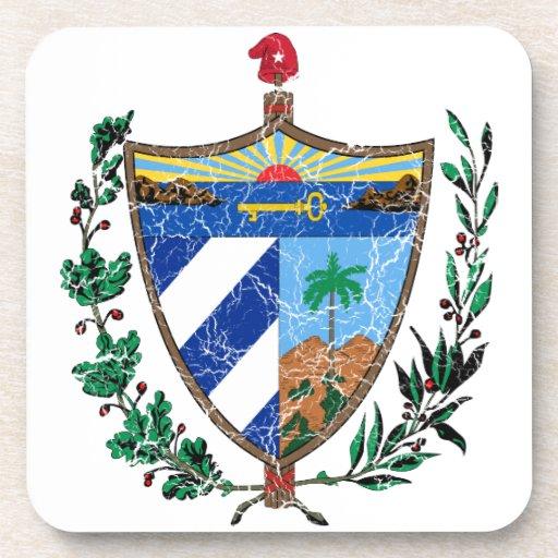 Escudo de armas de Cuba Posavasos De Bebidas