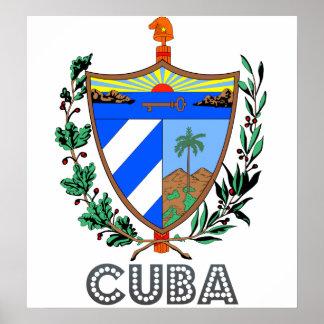 Escudo de armas de Cuba Póster