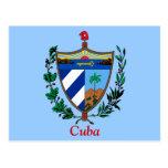 Escudo de armas de Cuba Tarjeta Postal