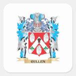 Escudo de armas de Cullen - escudo de la familia Pegatina Cuadrada
